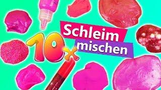 10 x Schleim mischen | Mega Schleim DIY in Pink | Neues Schleim Experiment | Slime Smoothie
