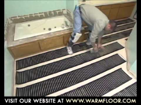 Electric underfloor heating system installation step for Step warm floor