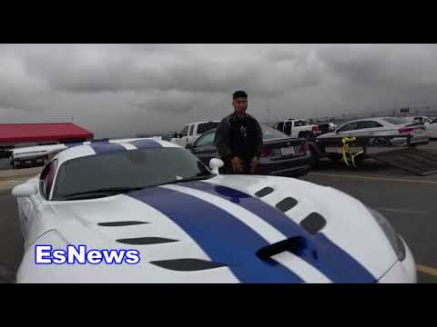 Mikey Garcia In His Viper On His Day Off From Boxing EsNews Boxing