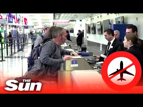 President Trump's Europe and UK coronavirus travel ban causes panic for worried travellers