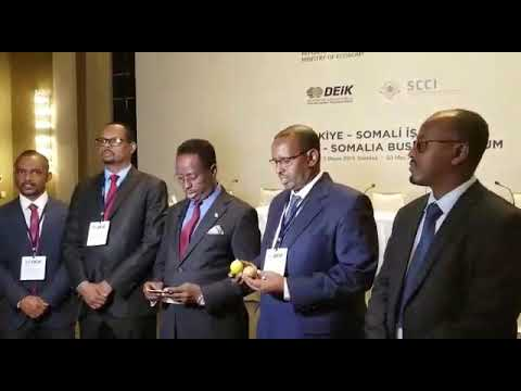 Wasiirka Maxamed Cabdi  Maareeye oo furay Shirkii Somali Turkish business forum Magaalada istanbul