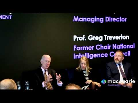 Global cyber security expert Greg Treverton with Macquarie Government