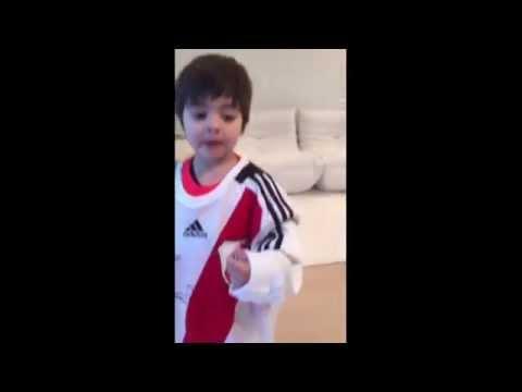 El hijo de Shakira y Piqué fanático de River