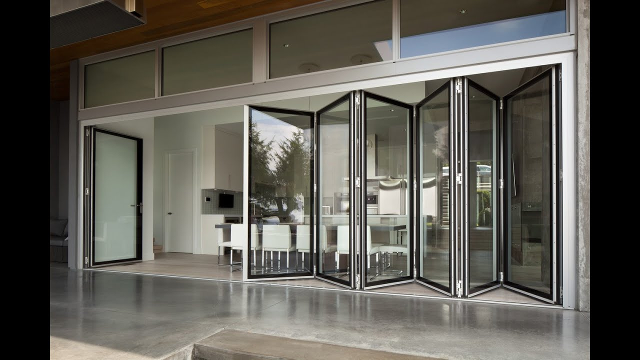 World 39 s only edge to edge glass folding wall youtube for Glass walls and doors