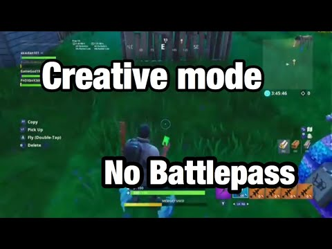 Fortnite How To Play Creative Mode Without The Battlepass Youtube