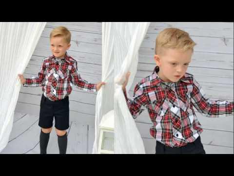 d8d5b38a5 DIY Como hacer una camisa para niño - YouTube