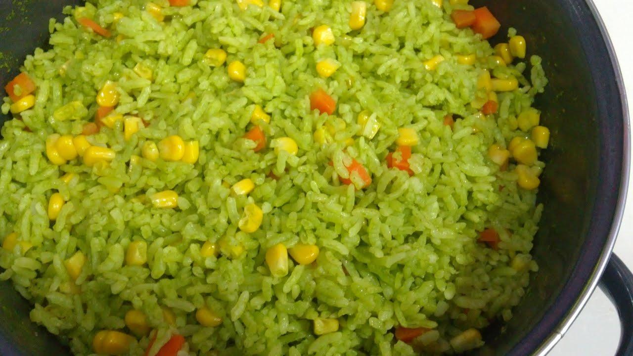 Receta de arroz verde receta 109 como hacer arroz for Como cocinar arroz