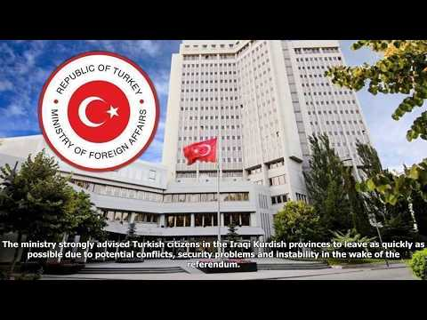Turkey issues travel warning to krg provinces in iraq