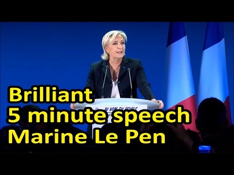 (Eng Subs) Stirring 5 minute speech by Marine Le Pen after qualifying for round 2 of election