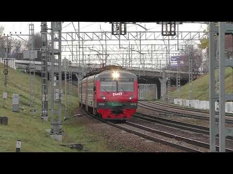 Электропоезд ЭД4М-0442 (ТЧ-31) пригородный поезд №6404 Барыбино - Москва.