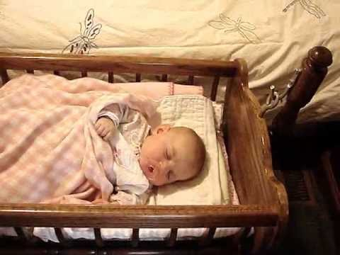 Handcrafted Colonial Baby Cradle (