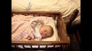 "Handcrafted Colonial Baby Cradle (""french Heritage"")"