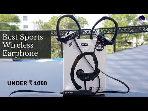 Leaf Sport Wireless Earphone Unboxing| Under ₹1000 [In Hindi]