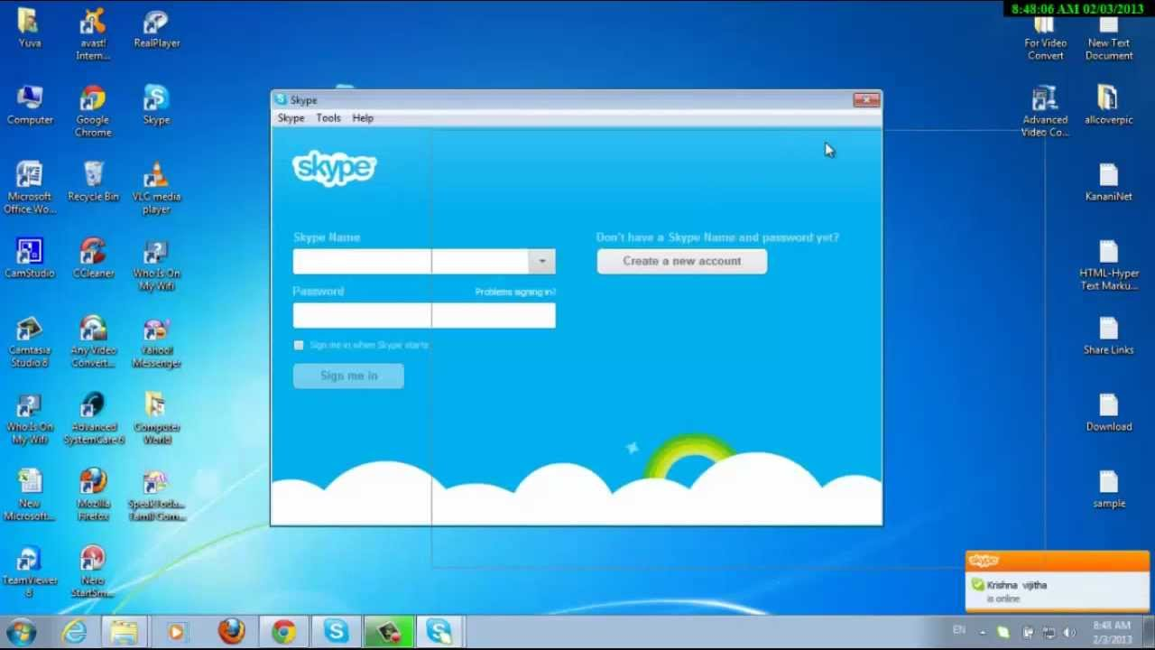 Skype login account - How To Login Multiple Skype Account Without Using Any Software Youtube