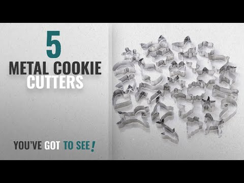 Best Metal Cookie Cutters [2018]: GWHOLE Cookie Cutters Set, Animal Unicorn Classic Shape Cutters