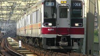 東武6050系快速 小菅駅通過
