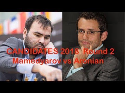 Candidates 2018 Round2 Mamedyarov vs Aronian