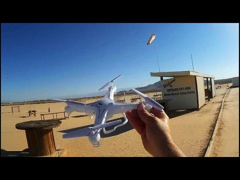 Syma X5C Quadcopter Drone Test Flight