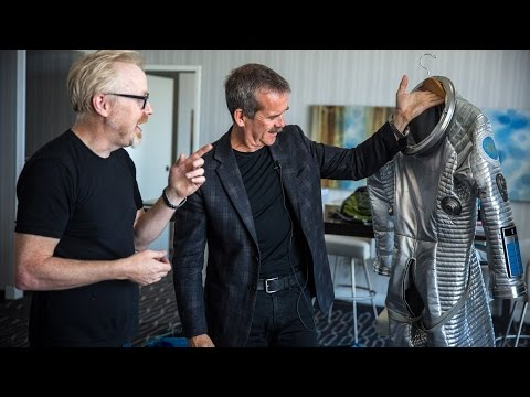 Adam Savage Incognito at Comic-Con 2015 (with Astronaut Chris Hadfield!)
