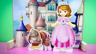 Sofia The First Playhouse Castle Magnetic Dress-up Dolls