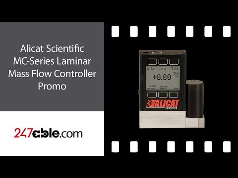 Alicat Scientific MC-Series Laminar Mass Flow Controller Promo