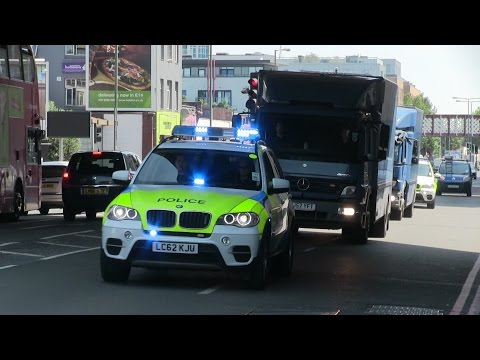 [4 BMW's ARV's  ]Money Transfer Bank of England - City Of London Police