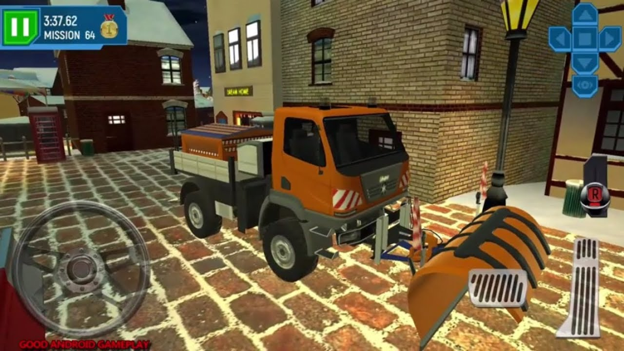 ski resort driving simulator 13 new snow plow vehicle. Black Bedroom Furniture Sets. Home Design Ideas