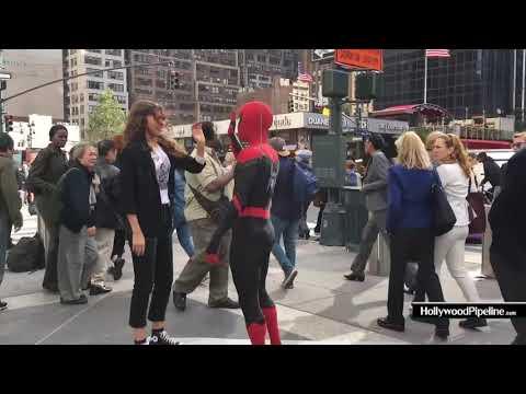 На съёмках Человека-паука
