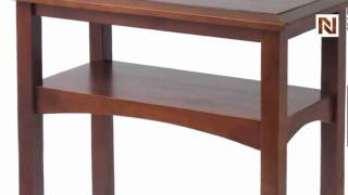 Winsome Craftsman Hall Table With Shelf 94630