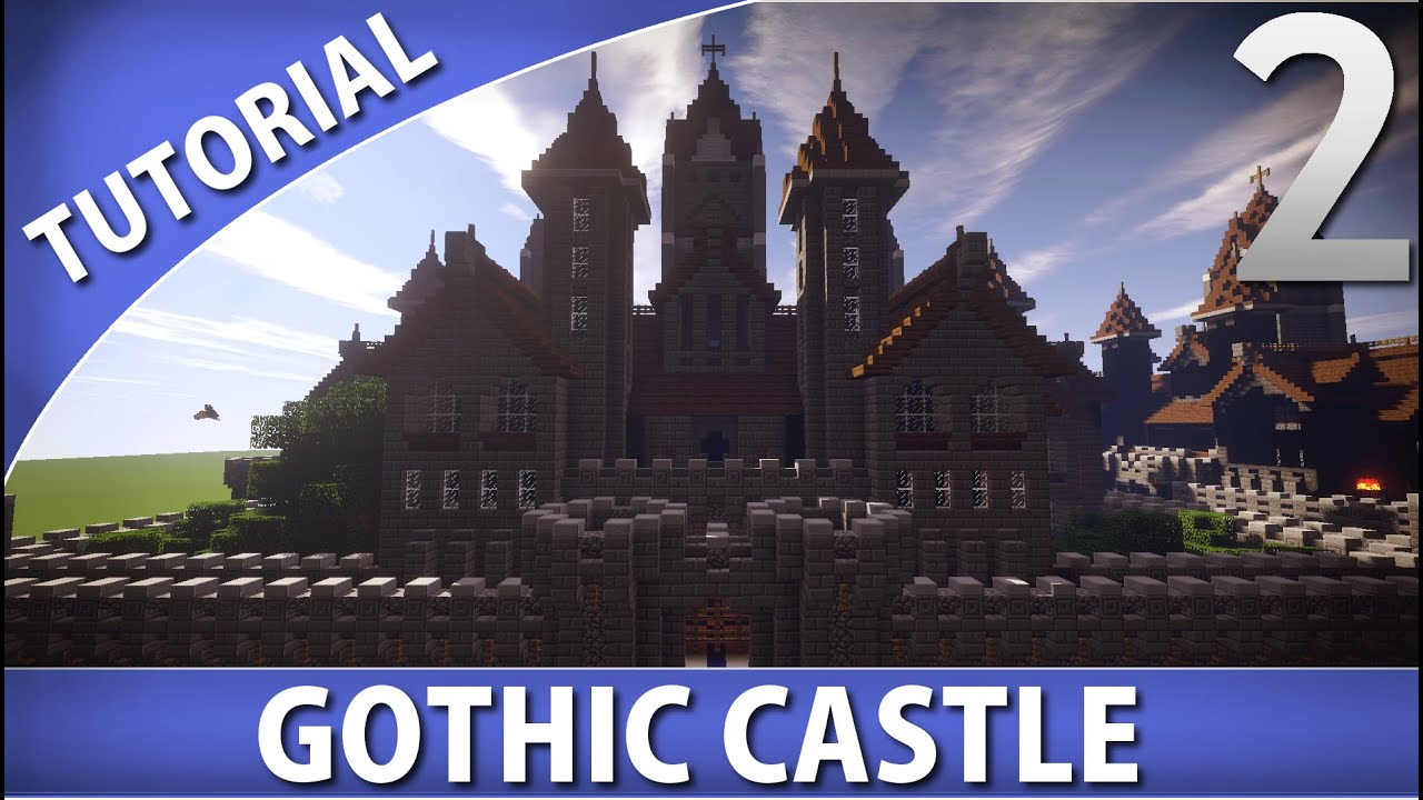Minecraft - How To Build A Gothic Castle  Part 2  10