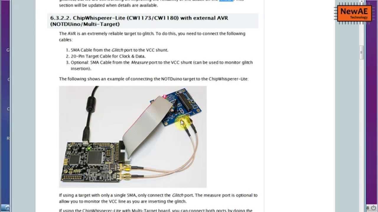 ChipWhisperer Tutorial #A3: VCC Glitching Attacks against ATMega328