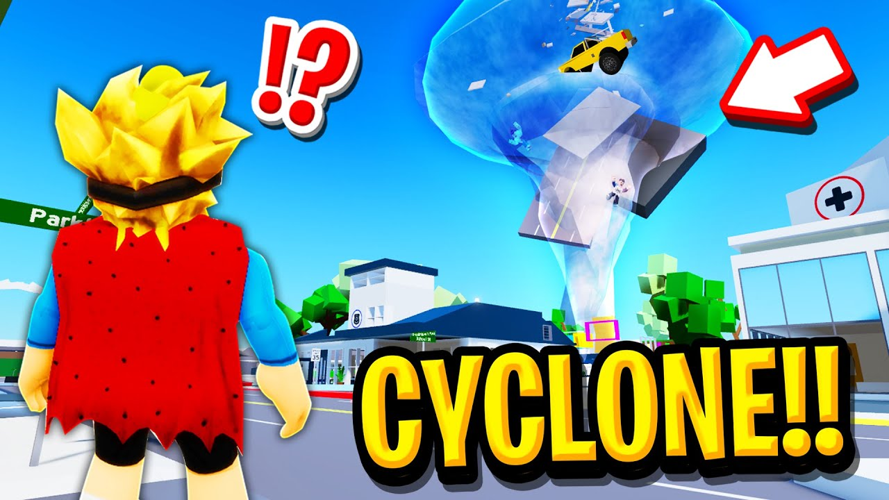 We Survived a CYCLONE in Roblox BROOKHAVEN RP!!