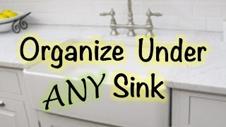 UNDER SINK ORGANIZATION ::: LOW BUDGET!