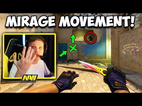 S1MPLE 1 SECOND ACE?! PRO MIRAGE MOVEMENT! CS:GO Twitch Clips
