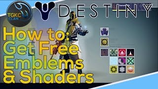 How to get Free Emblems and Shaders in Destiny