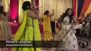 Bride Performs with Family surprises Groom | Punjabi Wedding Performance | Bollywood Wedding Dance|