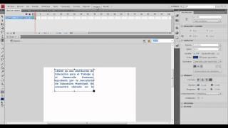 Tutorial Cuadro de Texto con Scroll en Flash CS4
