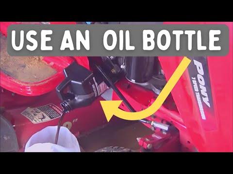 Oil Change Trick Troy Bilt Craftsman Mtd Youtube