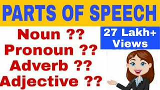 Parts of speech | English grammar | In hindi |