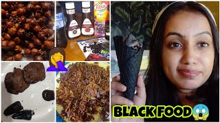 I only ate BLACK food for 24 HOURS😭 | First Indian to do this!| gopsvlogs