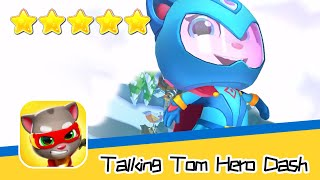 Talking Tom Hero Dash Run Game Day84 Walkthrough Angela in winter Recommend index five stars