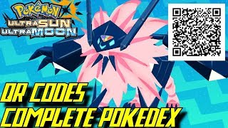 pokmon ultra sun and ultra moon complete pokdex all qr codes shinies