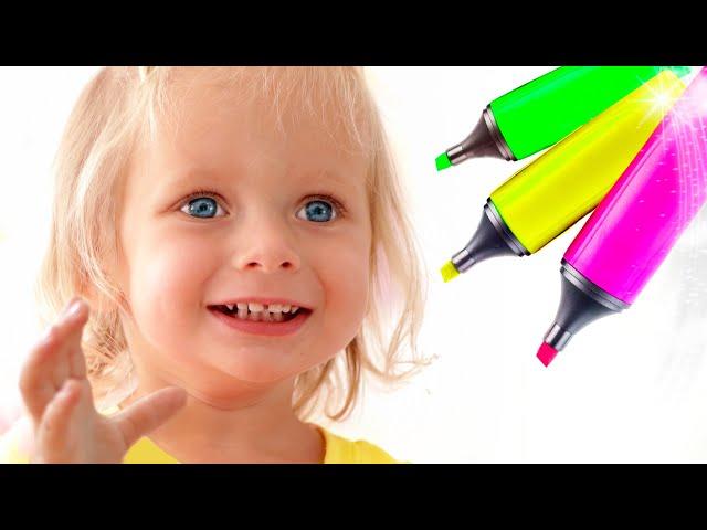 Челлендж 3 Маркера с Майей и Машей