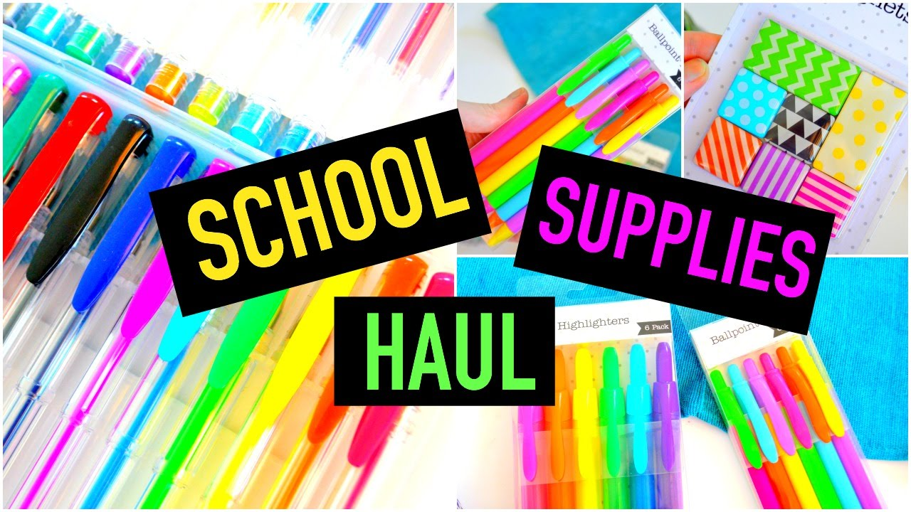 I wanna know what to buy for school supplies next year?