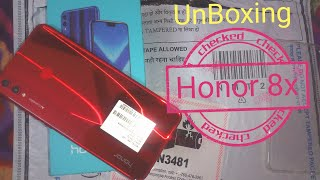 Honor 8x unboxing Red Color