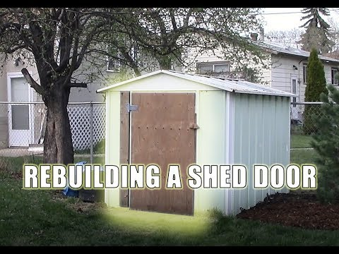 Rebuilding a Shed Door