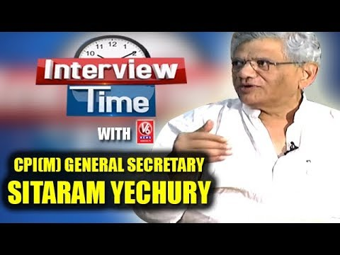 Interview Time With CPI(M) General Secretary Sitaram Yechury | V6 News