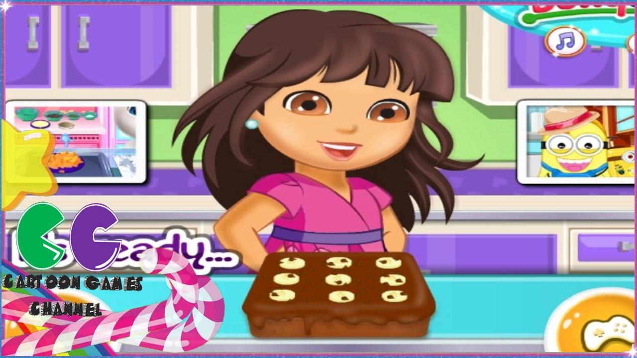 Dora de la torta de chocolate del pltano Dora Juegos de cocina