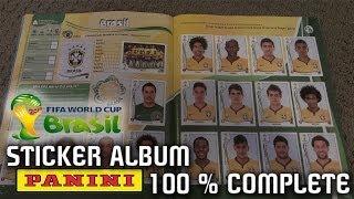 PANINI FIFA WORLD CUP 2014 STICKER ALBUM 100% Complete