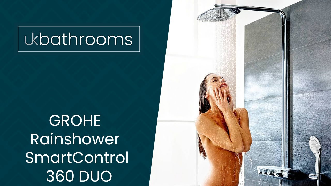grohe rainshower smartcontrol 360 duo showering luxury youtube. Black Bedroom Furniture Sets. Home Design Ideas